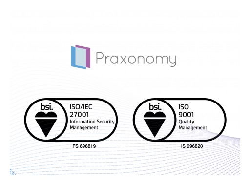 Praxonomy Achieves ISO 27001 Certification