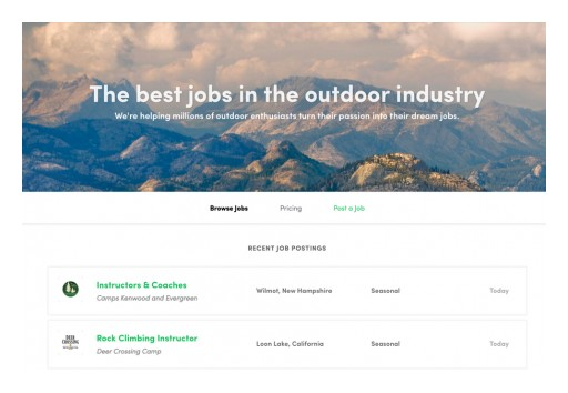 The Outbound Launches a Job Board for Their 3.6+ Million Outdoor Enthusiasts