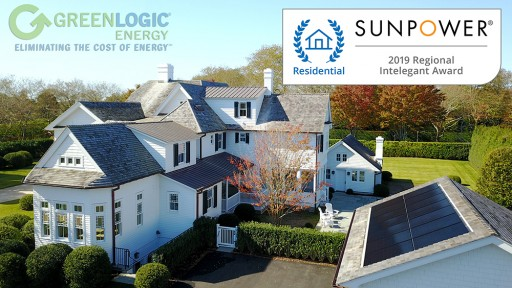 GreenLogic Wins SunPower's 2019 'Regional Intelegant' Award for Southampton Residential Solar Installation