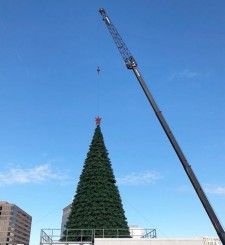 Superior Rigging & Erecting setting the Macy's Great Tree
