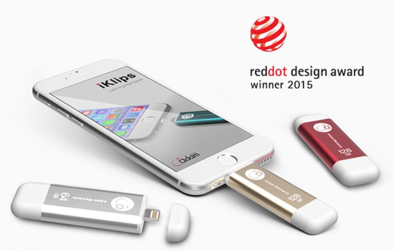 Jual Adam Elements Iklips Duo 128gb Red Mobile Data Storage Element Flash Drive Worlds Fastest Apple Lightning Newswire