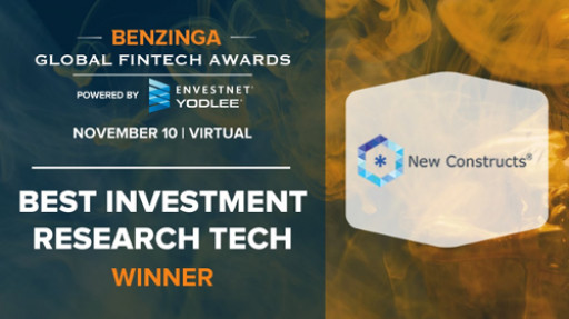 New Constructs Wins Benzinga's 2020 Best Investment Research Tech Award
