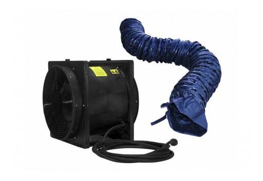 "Larson Electronics Releases Explosion Proof 16"" Box Fan/Blower/Ventilator, 4,450 CFM, 220V AC"