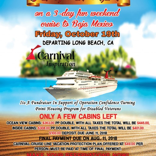 Operation Confidence Fundraiser Aboard the Carnival Cruise to Obtain Housing for Homeless Disabled Veterans