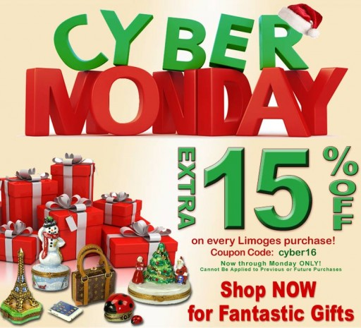 Cyber Monday Extravaganza Sale on French Limoges Boxes - Gifts Worth Giving at LimogesCollector.com