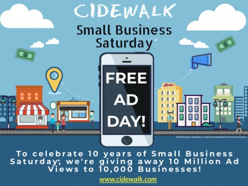 Cidewalk Funds 10 Million Ad Views to 10,000 Businesses
