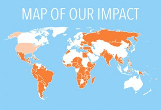 Map of our impact