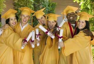 Group of Happy College Graduates