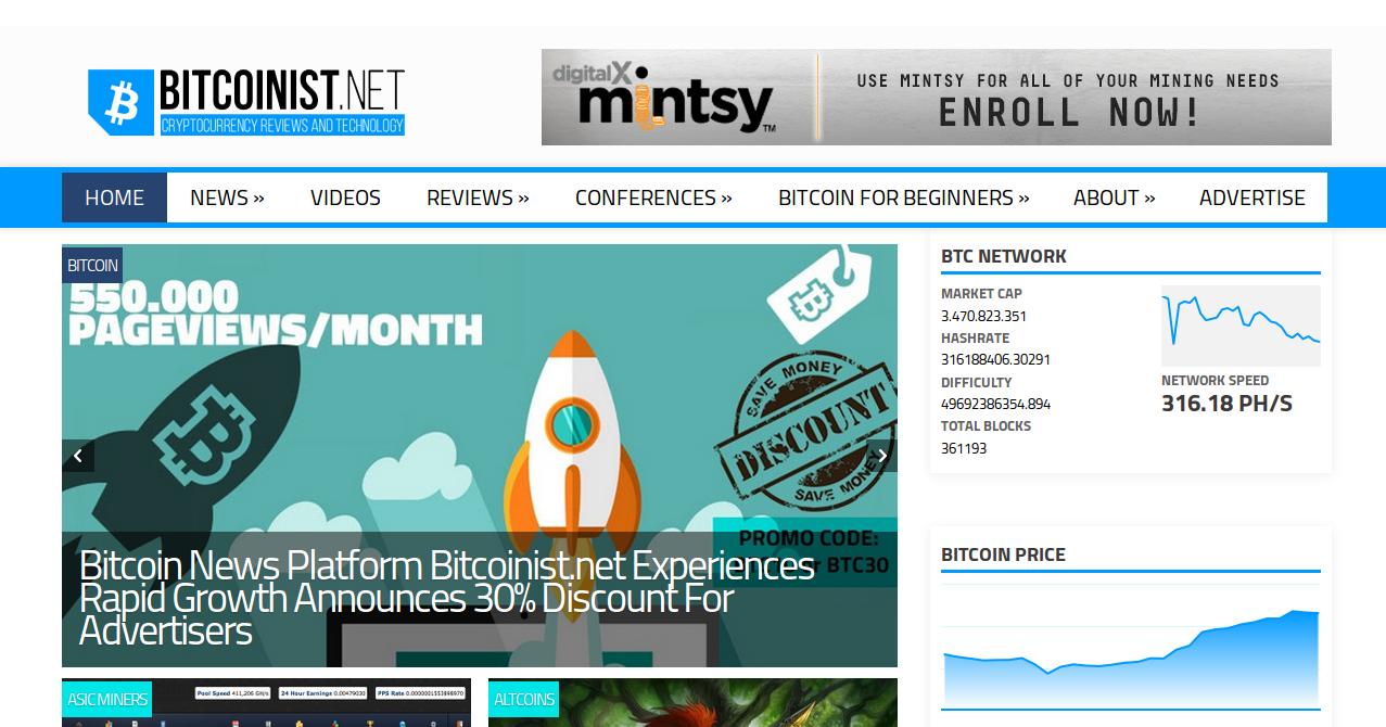 Bitcoin News Platform Bitcoinist.net Experiences Rapid Growth ...
