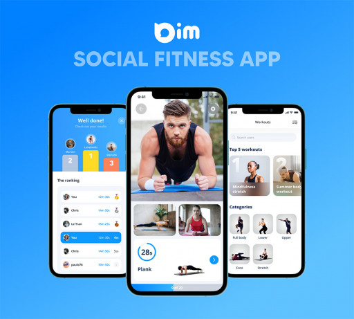 Stay-at-Home Fitness Becomes Even More Social Than the Gym With 'Bim - Social Fitness App'