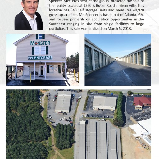The Storage Acquisition Group Announces the Sale of Monster Self Storage in Greenville, South Carolina