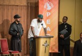 Speaking from the stage of the Scientology Community Center, rapper The Game, called for peace and unity and an end to the killings.