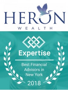 Heron Wealth Recognized for Second Year as One of the Top 15 Financial Advisory Firms  in New York