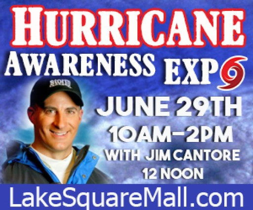 Lake Square Mall in City of Leesburg Braces as the Weather Channel's Jim Cantore Comes to Town—2019 Hurricane Expo