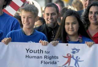 Youth for Human Rights volunteers in Clearwater