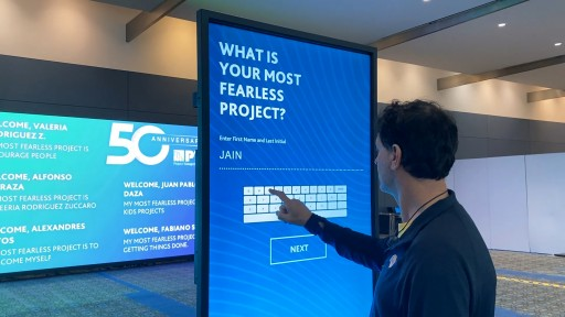 Touchscreen APP Engages Guests to Interact at Annual Conference by TLC Creative Technology