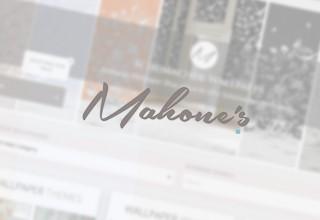 Mahone's Wallpaper Shop Logo Header