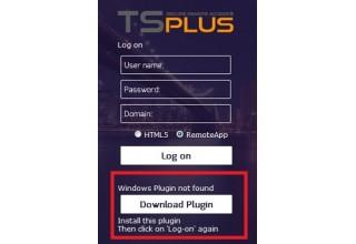 TSplus RemoteApp plugin