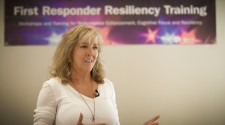 Susan Farren, Founder of First Responders Resiliency addresses attendees
