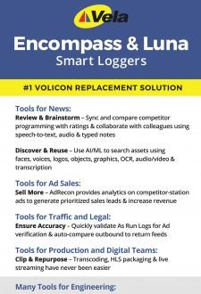 Vela's Upgraded Version 6.5 Smart Loggers Will Impress NAB-NY 2019 Attendees