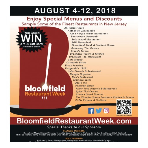 Bloomfield Restaurant Week, Seven Years Strong, Returns August 4-12