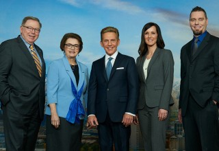 MR. DAVID MISCAVIGE with (left to right): Utah State Voluntary Agency Liaison, Mr. Ken Kraudy; Utah State Senator, Mrs. Margaret Dayton; Director of Operation Underground Railroad, Mrs. Taryn Dipo; and Utah Major Crime Unit, Sergeant Brandon Burgon (Ret.).