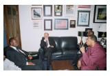 """Anthony """"Amp"""" Elmore Meets Ghana Ambassador Dan. Ohene Agyekum"""