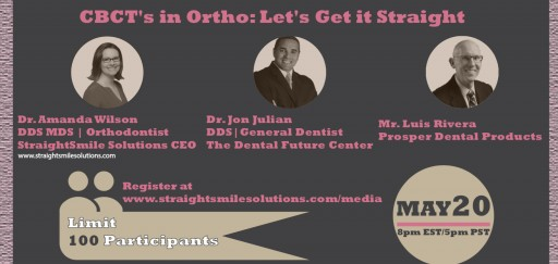 StraightSmile Solutions™ - Orthodontic Consulting Company Announces Free Webinar on CBCT for Case Selection in GP Orthodontics