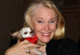 Harley with Jewel Morris, founder of Hamptons Pet