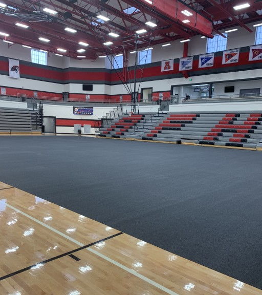 Greatmats Floor Cover Carpet Tiles Protect American Fork High School School Gym Floor