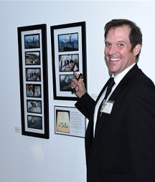 AFT Ambassador and Artist Ford Austin with his artwork