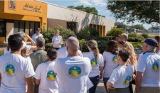The Way to Happiness Association cleanup launches from the Martin Luther King Center in the Greenwood neighborhood of Clearwater, Florida.