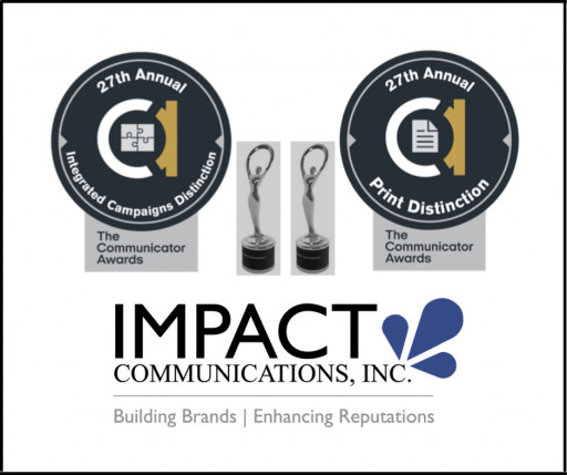 Impact Communications Earns Two Awards in 27th Annual AIVA Communicator Awards