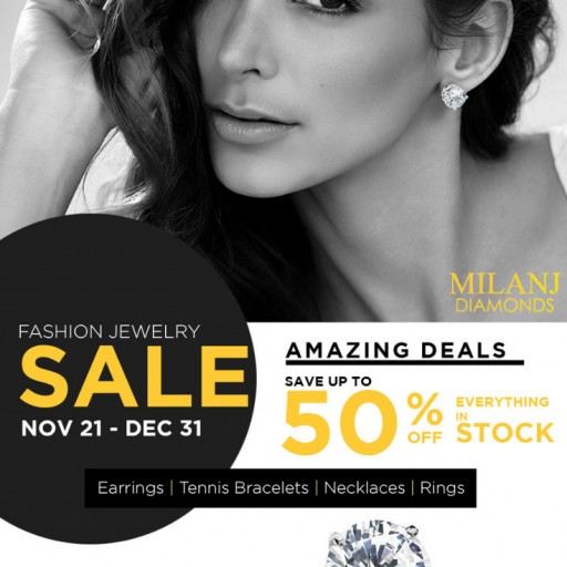 MILANJ Diamonds Hosts Holiday Promotion With Extensive Savings on All In-Stock Items