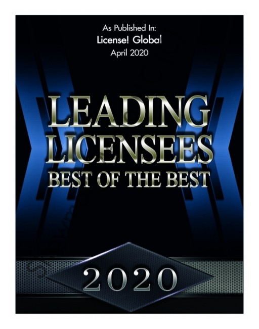 Just Funky Makes 'Top 150 Leading Licensee' Awards for Fourth Year in a Row