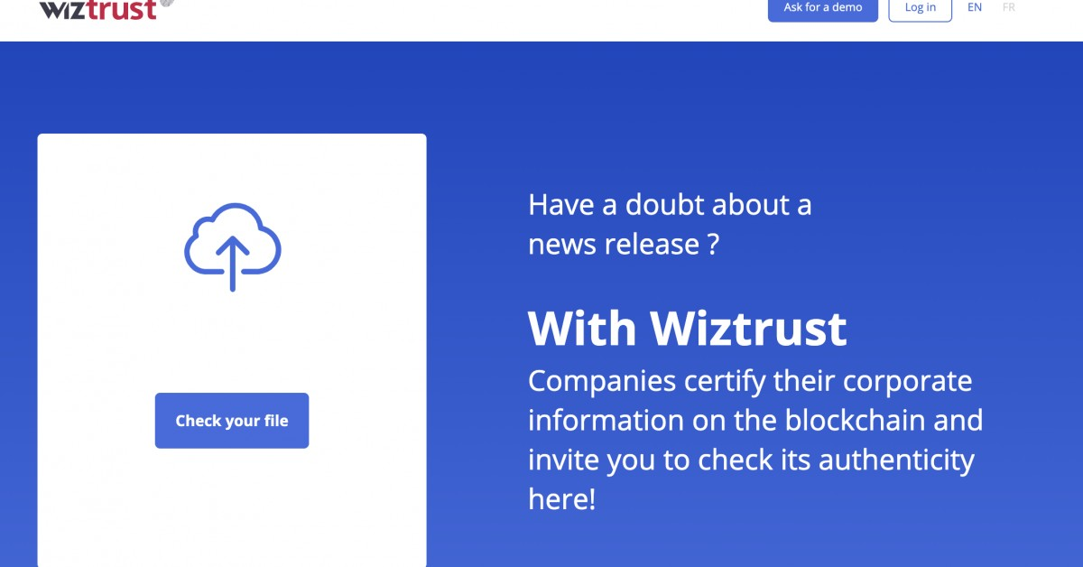 Wiztrust Incorporates Verification to Fight Fake Corporate News and Stock Swings