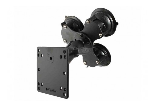 "Larson Electronics Releases Suction Cup Mount, Magnetic Equipment Mounting Plate, (3) 3.3"" Suction Cups"