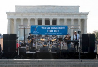 Rock concert promotes human rights