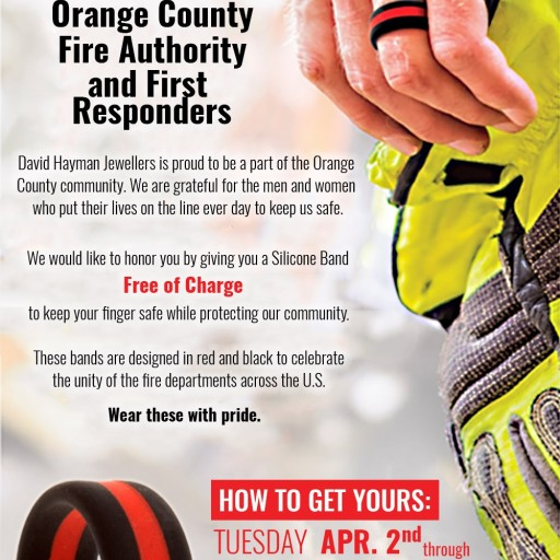 David Hayman Jewellers Will Give Away Free Silicone Rings to Orange County Firefighters in April