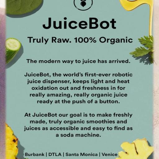 TENTEN Wilshire Downtown Lifestyle: JuiceBot Organic, Raw Juice Dispensers