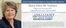 Mary Ellen Valliant, AIF®, Founder and Managing Partner of Valliant Wealth Strategies and Registered Principal with Raymond James Financial Services, Inc.