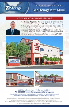 Self Storage with More Closing Announcement