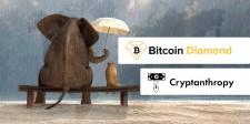 Bitcoin Diamond and Cryptanthropy Logos