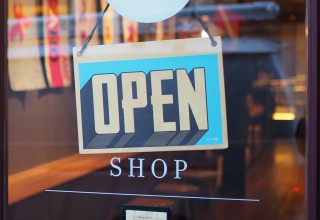 Open Sign on Local Small Business