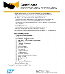 SAP Integration Certification