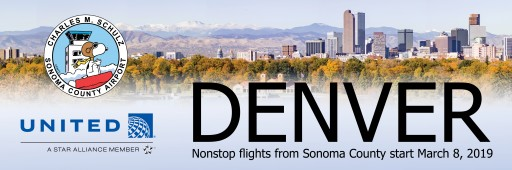 Fly From Northern California Wine Country to the Rockies Starting March 2019