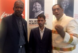 Tennessee State Senator Reginald Tate take Dr. Rajeev on a Tour of Civil Right Museum