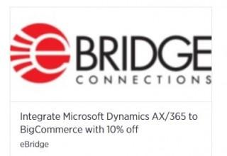 MS Dynamics AX/365-BigCommerce 10 percent off