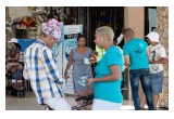Foundation for a Drug-Free World volunteers hand out Truth About Drugs booklets at the Twin City Mall in Heidedal, South Africa