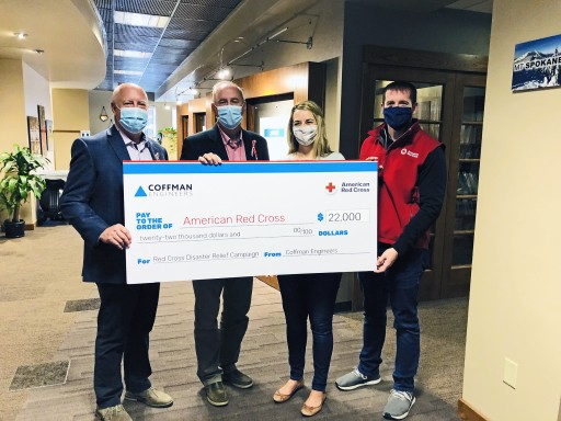 Coffman Engineers Employee Donation Match Contributes $22,000 to Red Cross for Disaster Relief Efforts